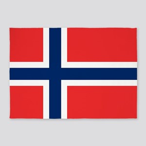 Flag of Norway 5'x7'Area Rug